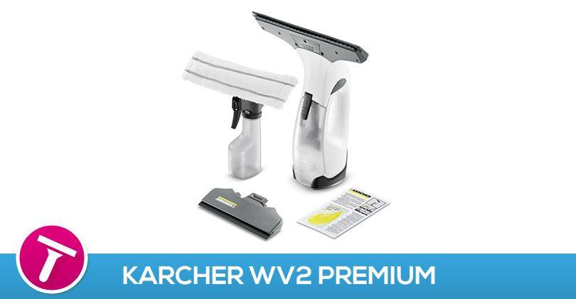 J'ai testé les deux raclettes du KarcherWV2 Premium