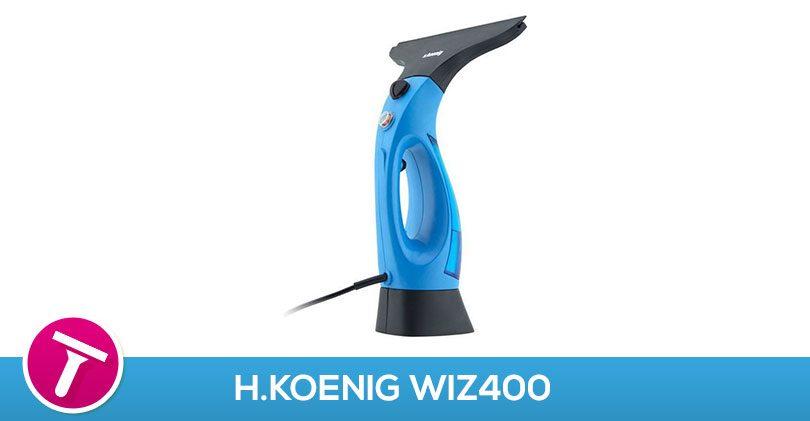 Fini les produits chimiques avec le lave vitre à vapeur H.Koenig WIZ400