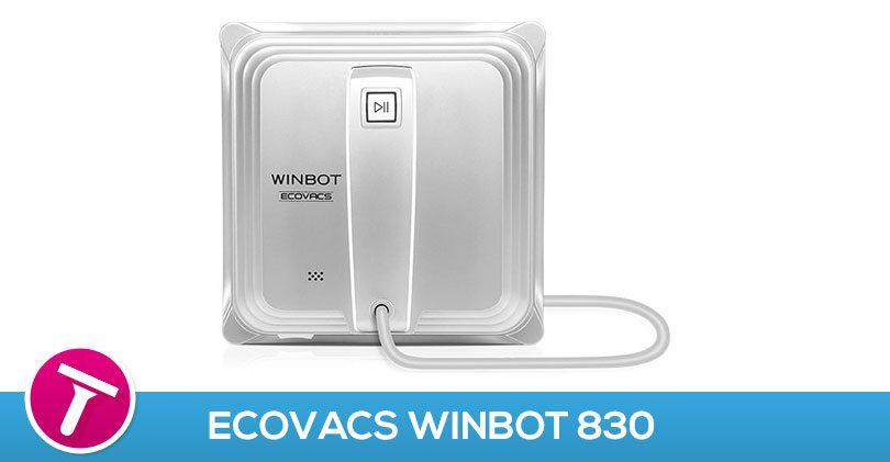 Nettoyer rapidement de grandes surfaces vitrées avec l'Ecovacs Winbot830