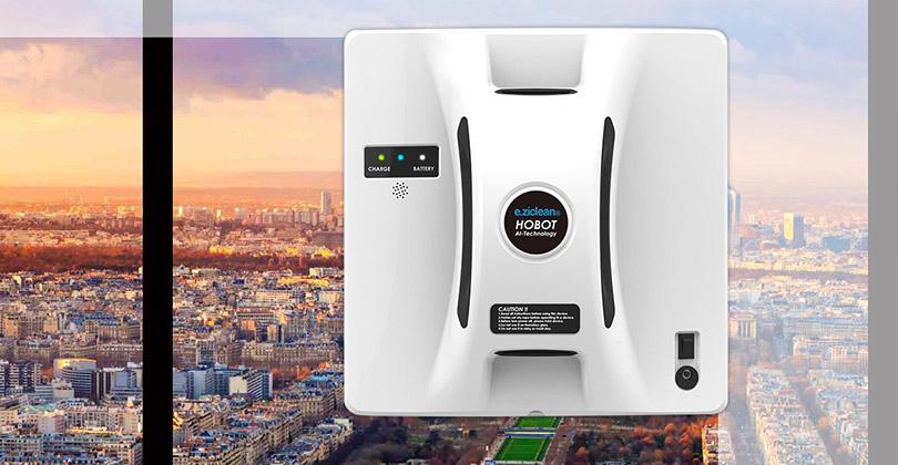 Avis sur le robot lave vitre E.Ziclean Hobot Square – E.zicom